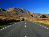 Highway 73 at Castle Hill Basin near Arthur's Pass  New Zealand