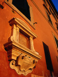 Late Afternoon Glow on Building in Trastevere  Rome  Italy