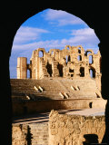 Amphitheatre at Colosseum of El-Jem Framed by Arch  El-Jem  Mahdia  Tunisia