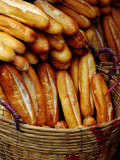 Baguettes in Basket at Central Market  Can Tho  Vietnam