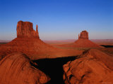 West Mitten Butte and East Mitten Butte  Monument Valley Navajo Tribal Park  Utah