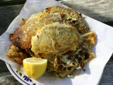 Plate of Whitebait Fritters  New Zealand