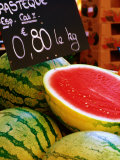 Watermelons for Sale at Market in Rue St Clair  Annecy  Rhone-Alpes  France
