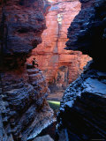 Man in Weano Gorge  Karijini National Park  Western Australia