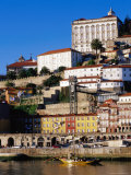 Douro River  Ribeira Area and Cathedral  Porto  Douro  Portugal