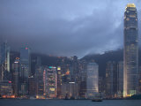 Victoria Harbor and the Skyline from Kowloon  Hong Kong  China