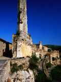 Ruined Tower at Entrance to Village  Herault  Minerve  Languedoc-Roussillon  France