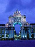 Praca de Comercio Arco de Victoria  Lisbon  Portugal
