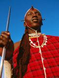 Ochre-Painted Maasai Moran  Longido  Arusha  Tanzania