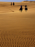 Horse-Riders on Huge Sand Dune  Medanos de Coro National Park  Falcon  Venezuela