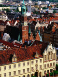 Town Hall from St Elizabeth Church  Wroclaw  Dolnoslaskie  Poland