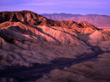 Folds of Land Viewed from Zabriskie Point at Sunrise  Nevada