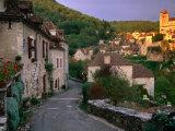 Street Scene  St Cirq Lapopie  Midi-Pyrenees  France