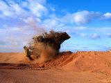 Giant Vehicle at Bauxite Mine  Weipa  Queensland  Australia