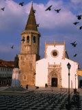 Late 15th Century Igreja de Sao Joao Baptista Facing Praca Da Republica  Tomar  Ribatejo  Portugal