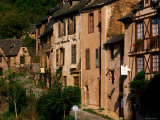 Medieval Village Street  Conques  Midi-Pyrenees  France