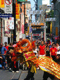 Dragon Dance During Chinese New Year  Chinatown  Melbourne  Victoria  Australia