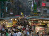 Crowded Night Market  Keelung  Taipei  Taiwan