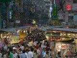 Crowded Night Market  Keelung  Taipei  Taiwan