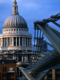 St Paul's Cathedral and Millenium Bridge  London