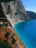 High Angle View of Beach at Porto Katsiki  Lefkada Island  Ionian Islands  Greece