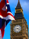 The Union Jack Flag and Big Ben  London  England