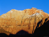 Mount Kinesava at Sunrise  from Watchman Campround  Zion National Park  Utah