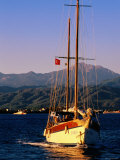 Yacht Cruising with Sails Down  Fethiye  Mugla  Turkey