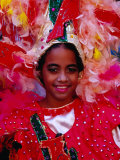 Young Girl from Folk Dance Group Preparing for Parade during Feria de la Chinita  Zulia  Venezuela