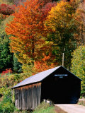 Autumn Leaves Surrounding Cilley Covered Bridge  Vermont