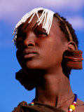 Maasai Girl with White Beads Indicating She Has Been Circumcised  Longido  Arusha  Tanzania