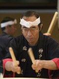 Man Playing Taiko  Kobe  Kinki  Japan