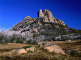 Two Rocky Hills Loom over Blackfellows Plain on the Buffalo Plateau  Victoria  Australia