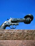 Tied Up Gun Peace Sculpture  Malmo  Skane  Sweden