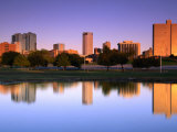 Fort Worth Reflected in the Trinity River Park  Fort Worth  Texas