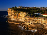 Golden Hue on the Rugged Sea Cliffs at The Gap  Sydney  New South Wales  Australia