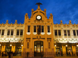Modernista Facade of Estacion del Norte  Valencia  Spain