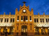 Modernista Facade of Estacion del Norte  Valencia  Spain