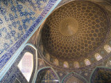 Mosaic Ceiling in Masjed-E Sheikh Lotfollah Mosque  Emam Khomeini Square  Esfahan  Iran