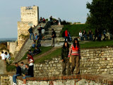 People at Kalemegdan Citadel  Belgrade  Serbia