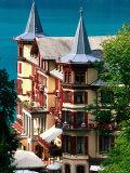 Grandhotel Giessbach and Lake Brienz  Brienz  Bern  Switzerland