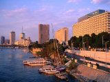 Cairo Hilton on Nile with Downtown in Background  Cairo  Egypt