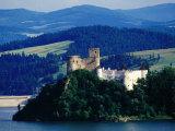 Horvath Castle on Czorsztyn Lake from Czorsztyn Castle  Niedzica  Malopolskie  Poland