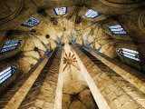 Vault Detail of the Esglesia de Santa Maria del Mar  Barcelona  Catalonia  Spain