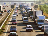 Traffic Congestion on the M25 Motorway  Surrey  England