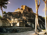 Edificio X at Rio Bec Mayan Ruins  Becal  Campeche  Mexico