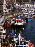 Fishing Boats Moored on the Waterfront  Weymouth  Dorset  England