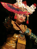 Gamelan Dancer Performing During Bali Arts Festival  Denpasar  Bali  Indonesia