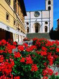 Duomo Cathedral  Piazza del Popolo  Todi  Umbria  Italy