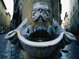 Street Corner Fountain  Florence  Italy